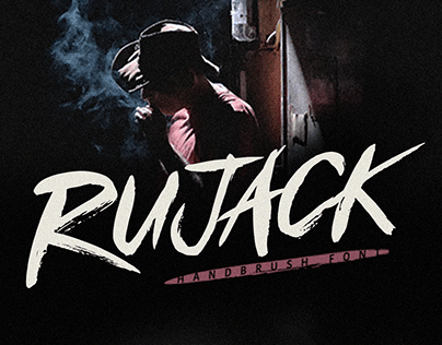 FREE   Rujack Handbrush Font