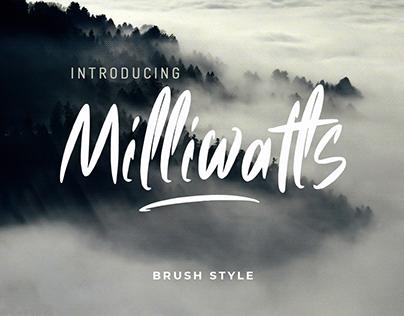 Milliwatls Brush Font