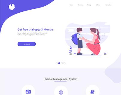 School management landing page