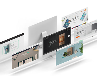Desktop Screens Mockup 02