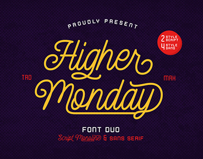 Higher Monday - Font Duo