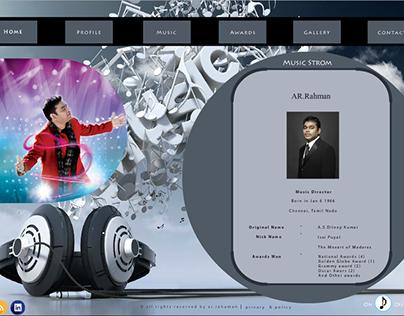 AR Rahaman Flash website