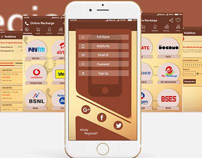 p-recharge mobile app ux & ui design
