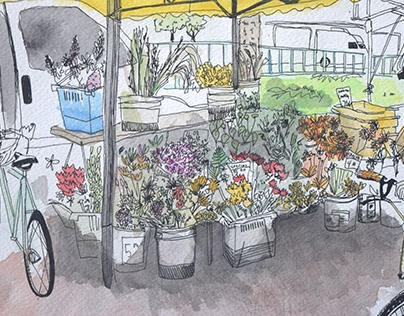 Board Meeting Agenda/CC Farmer's market illustration