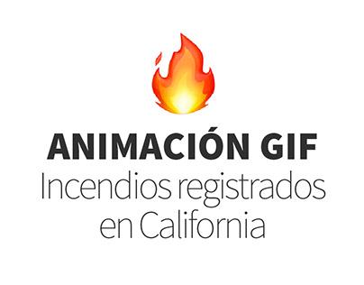 Incedios en California | GIF