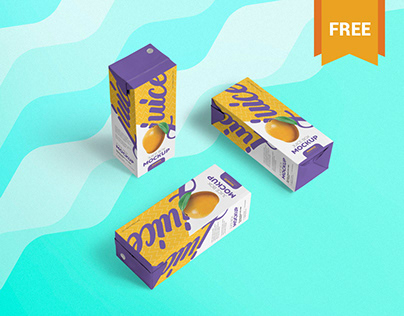 Free Juice Box Mockup