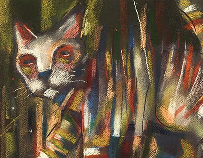 Cat (No. 33). Walking cat.