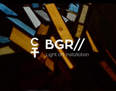 BGR // Light installation