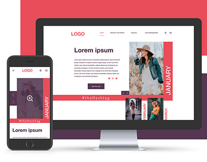 Fashion brand website - Concept
