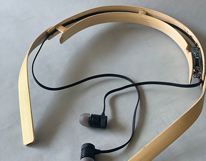 GROOVE BAMBOO- Bamboo bodied blue tooth earphones