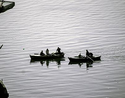 Fishermen at EL Temsah Lake, Ismailia, Egypt 3