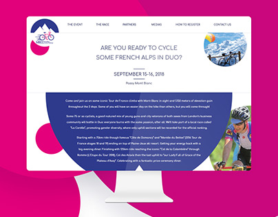 Web Design | Mount Blanc Cycling Challenge