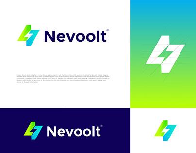Nevoolt Logo Design - Letter N Flash Electrical Logo