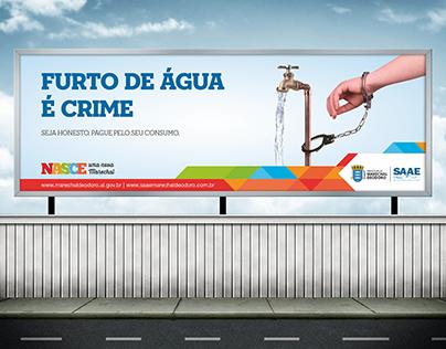 Campanha Furto de Água é Crime.