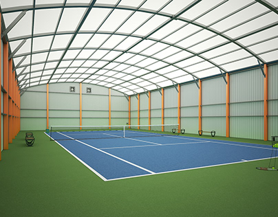 3D Tennis Court Render