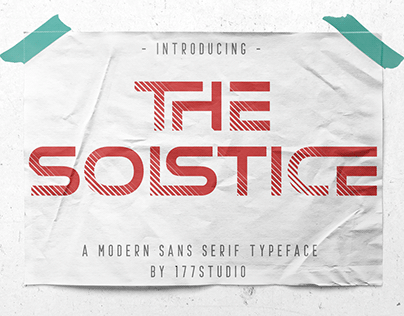 Free Font - The Solstice