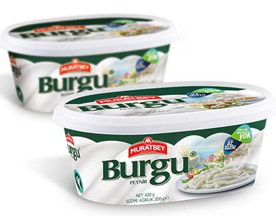 Muratbey Burgu & Topi Cheese Package Design