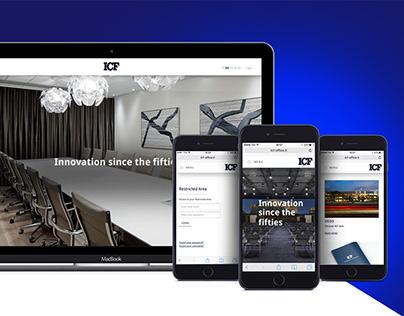 ICF OFFICE   WEBSITE REDESIGN (UI-UX)