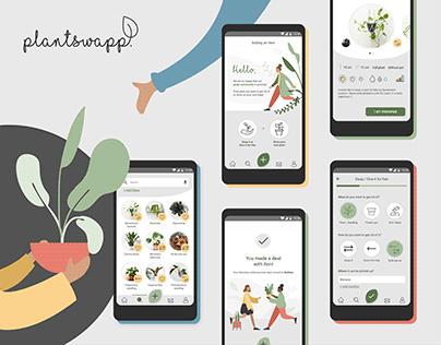 PlantSwapp mobile app / UX UI