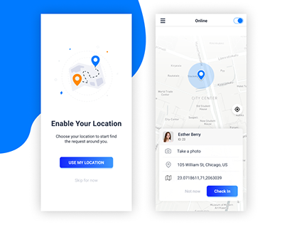 Tracking Checker Mobile UI Design
