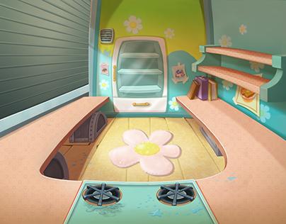 Disney Interactive / Kitchen Scramble - Bgs - Wafftown