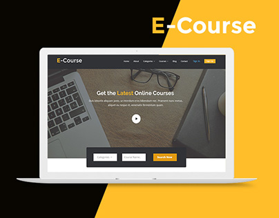 Online course website template