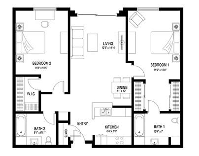 The 2D Floor plan