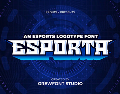 Esporta - An Esports Display Font