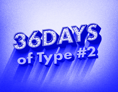 Blue Series for 36 Days of type #2