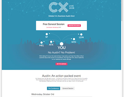CX Live Microsite and Ads