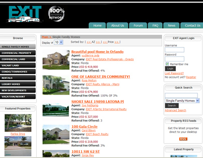 EXIT Realty Real Estate  Property Listings Website.