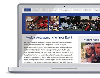 Web Design - Classics Unlimited Music