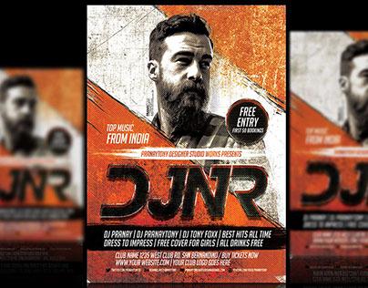 DJ NR Grunge Flyer Design - Pranaytony!