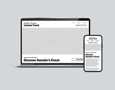 Wireframes - Public Radio Custom Travel