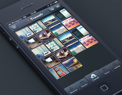 Transfr iPhone app