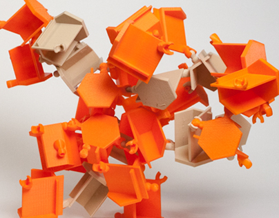 Emergent Structures: Orange and Tan