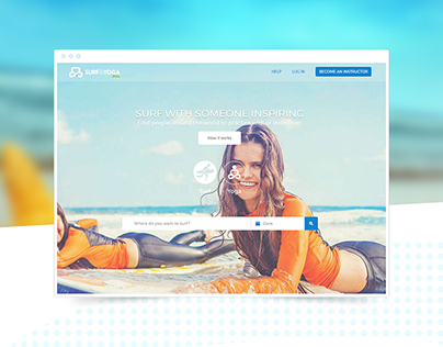Responsive Surf and Yoga website and web platform