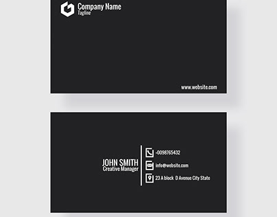 Black COO Business Card