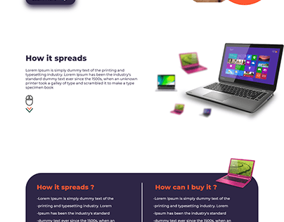 Landing Page from Buy Laptop