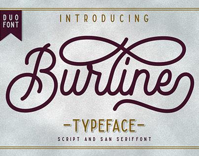 Burline Typeface