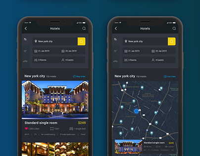 Hotel Booking Application-Dark