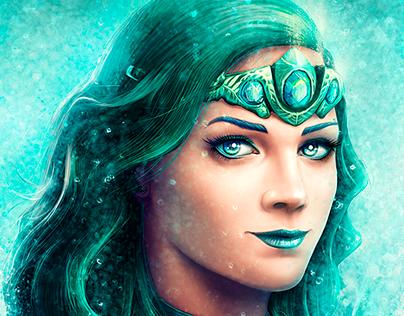 Water Fairy (full body) / Slot Game Character Design