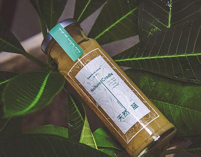 Natural Cradle Beverage Label Design