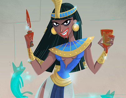 Egyptian Vampire Character Design