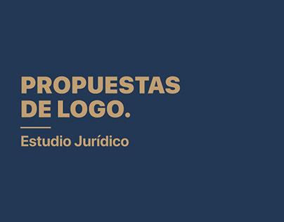 Propuestas de logo Estudio Jurídico - Lawyer firm brand