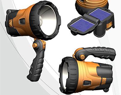 Solar Rechargeable Spotlight