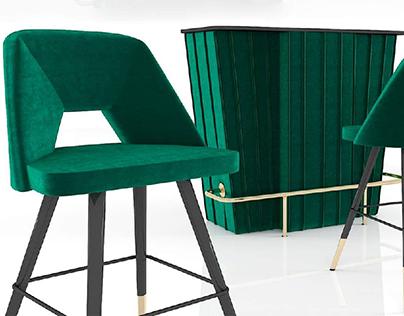 Eichholtz bar set - 3d Model