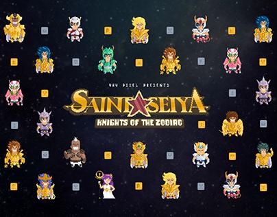 Saint Seiya Pixel Nostalgia Crypto Art