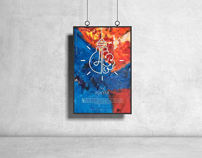 Hanging PSD Poster Mockup Design Free
