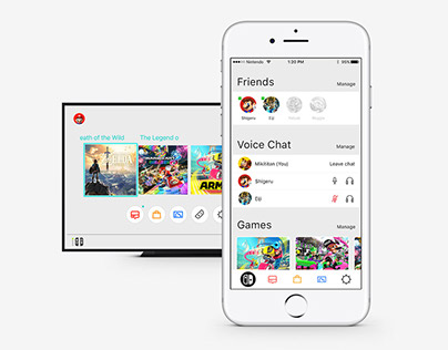 Nintendo Switch App Concept